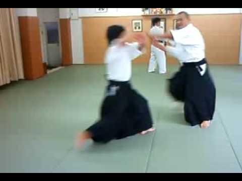 合気道 塾 横面打ち 呼吸投げ 01 aikido juku yokomen uchi kokyu nage 01