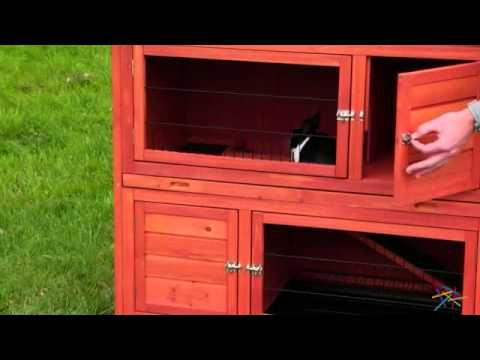 Boomer & George Double-Decker Rabbit Hutch - Product Review Video