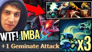 Weaver Cancer Talent tree x3 Geminate Attack Biggest DPS hero Dota 2 by Arteezy