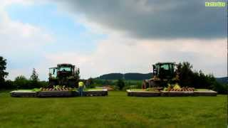 2x CLAAS XERION 3800 TRAC VC + CLAAS 9300C Disco Duo / CLAAS Disco 3100 FC Profil | HD 720p video |