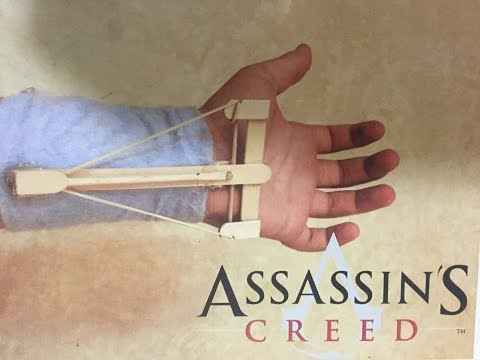 How to make assassin's creed HIDDEN BLADE/CROSSBOW