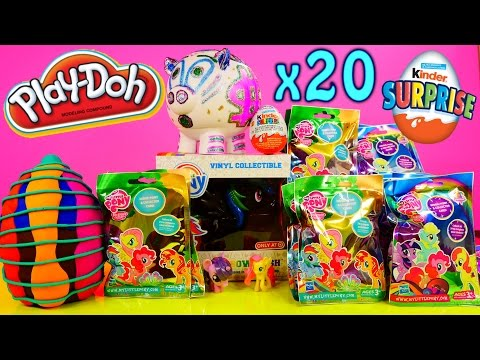 Play Doh Surprise Egg My Little Pony Mega Packs Opening Mlp Series 10 + 11 Toys Kinder Surprise Dctc video