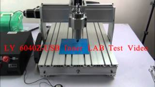 LY CNC 6040Z-USB Version engraving machine,3 Axis Inner LAB TEST Video