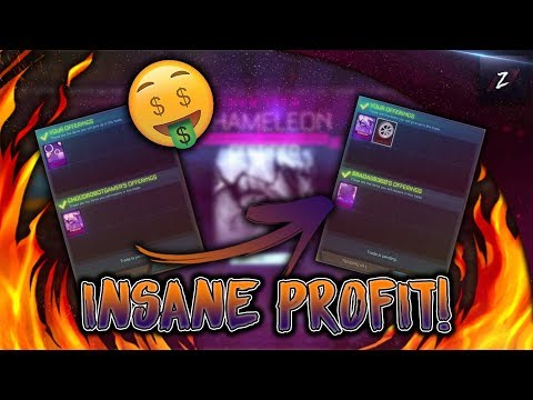 BUYING AND SELLING CHAMELEON MYSTERY DECAL FOR INSANE PROFIT! *OMG!* (ROCKET LEAGUE BEST TRADES)