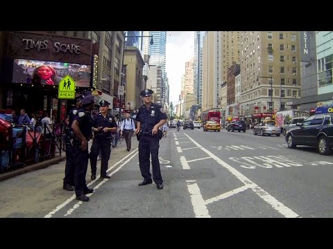 Watch NYPD Stand Directly In Bike Path On First Day Of NYPD's Bike Crackdown