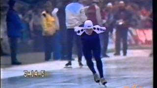 World Championships Allround Heerenveen 1987 - 5 km Gulyayev - Visser (WR)