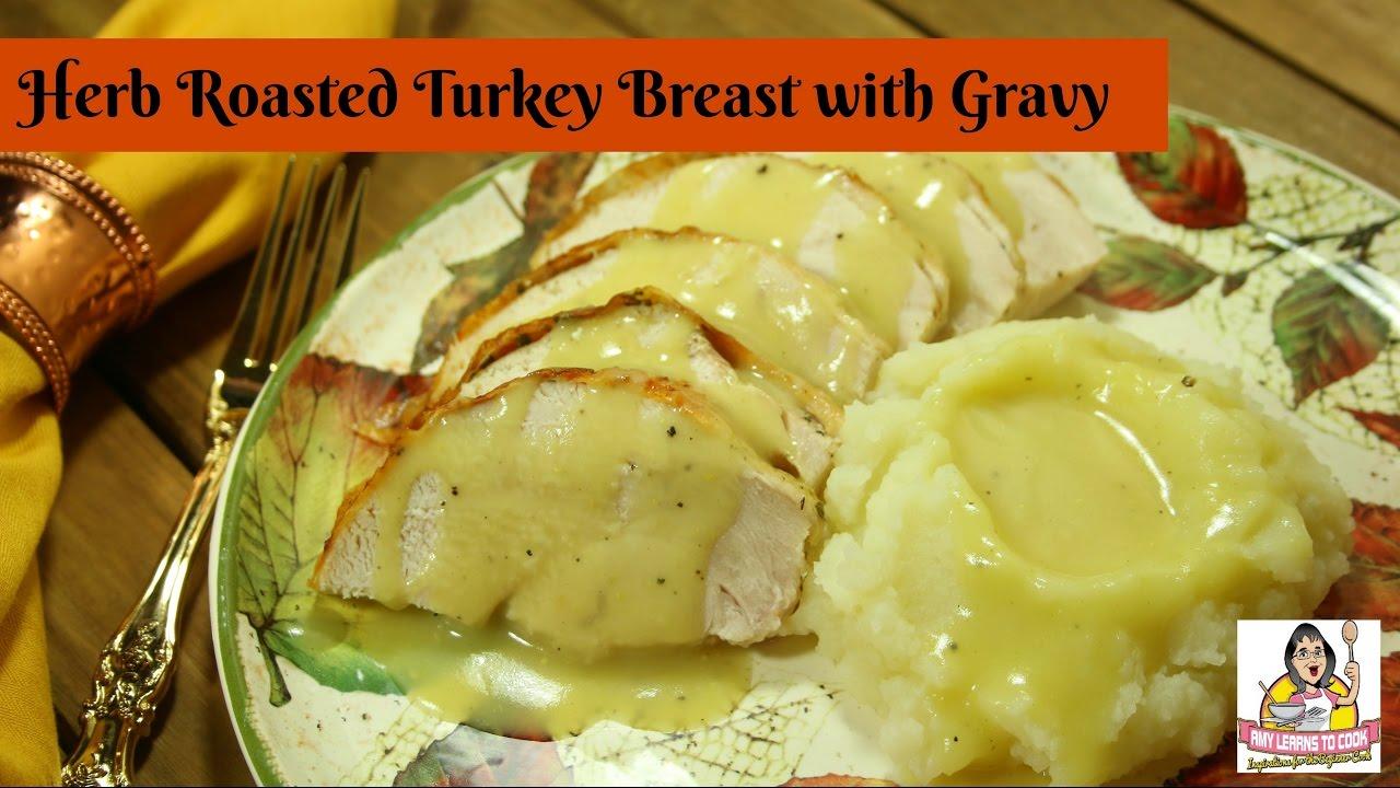 Herb-Roasted Turkey with Pan Gravy