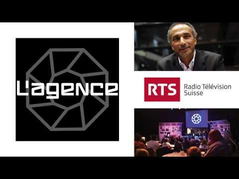 """Tariq Ramadan dans l'émission humoristique """"L'agence"""" (sur RTS)"""