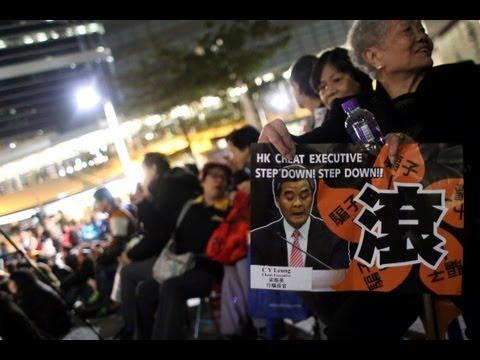Zprávy NTD - Hongkong: Jsou demonstranti podporující Leung Čchun-jinga podplaceni?