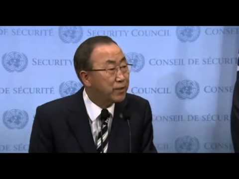 Ban ki moon speech On Use Of Chemical Weapons in Syria 9 16 2013