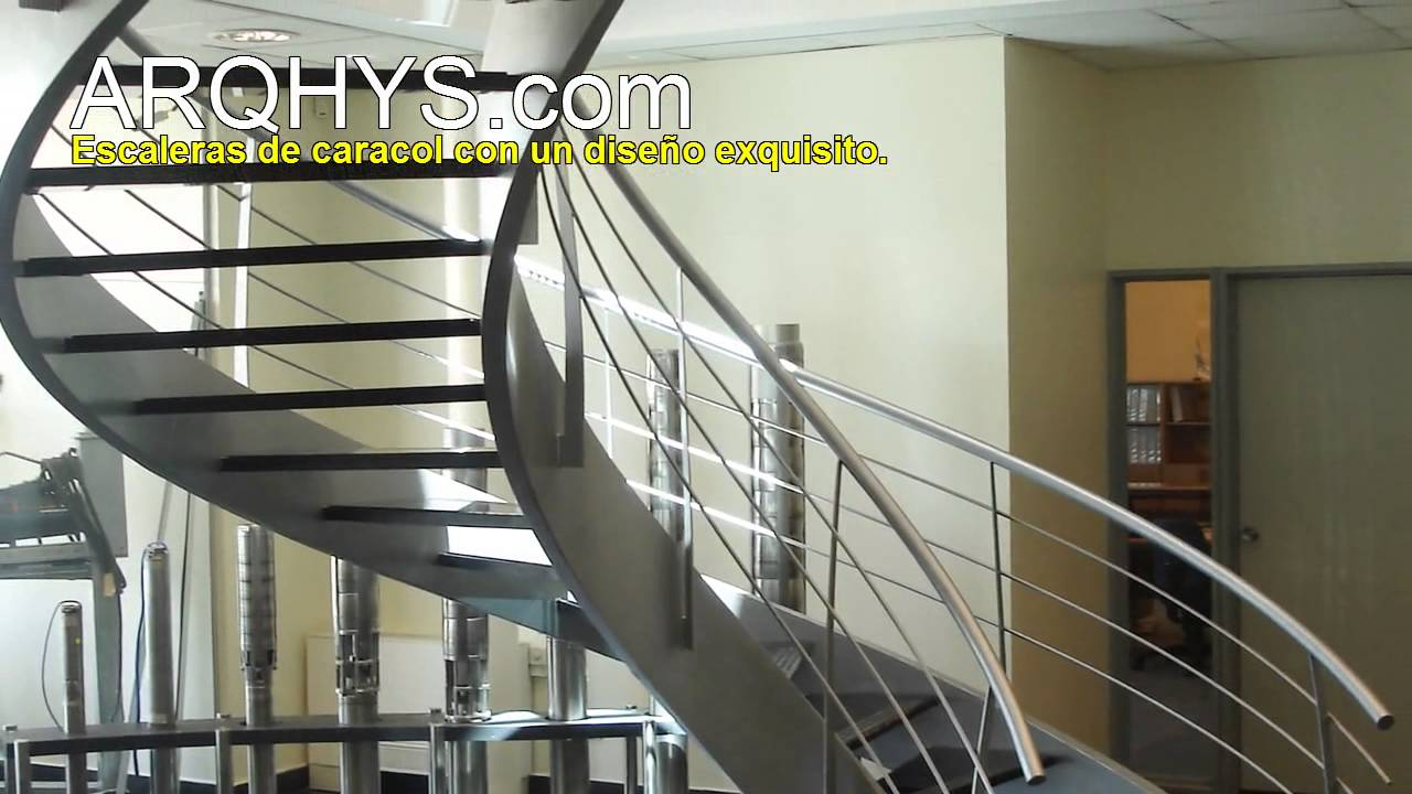 Escaleras de caracol modernas youtube for Escalera de caracol de metal fuera