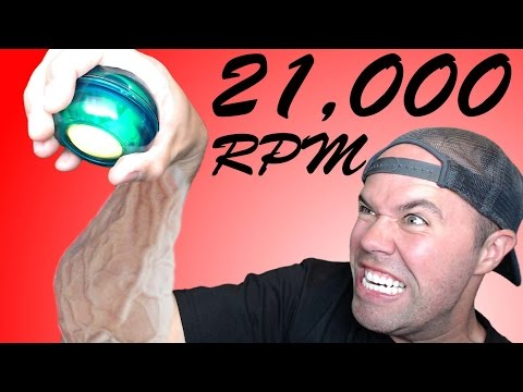 World's Fastest Human Powered Device | Powerball Gyroscope Exerciser!