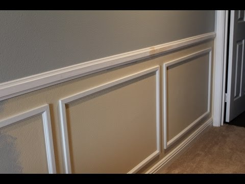 wainscot installation tips youtube. Black Bedroom Furniture Sets. Home Design Ideas