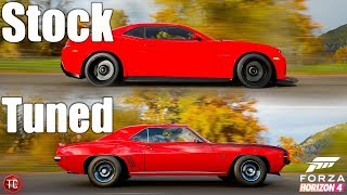 Forza Horizon 4: Stock vs Tuned! New Chevy Camaro Z28 vs 1969 Camaro SS