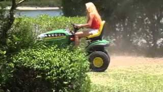 Having fun and getting my suntan on our John Deere, Ha Ha ;-D