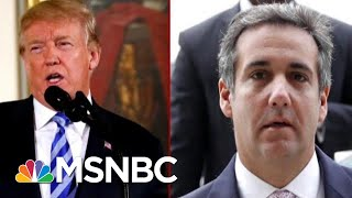 Witness Tamperer- In-Chief?: Cohen Cancels Testimony Fearing Trumps Backlash | Deadline | MSNBC