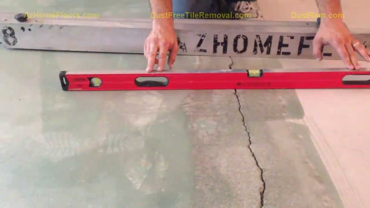 How to level a floor before tiling