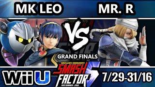 SF5 Smash 4 - SF HDG | MK Leo (Marth, Metaknight) Vs. Mr. R (Sheik) SSB4 Grand Finals - Smash Wii U