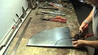 sheet metal cone template - pattern making for sheet metal offset transition
