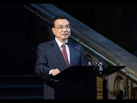 Chinese Prime Minister Li Keqiang honoured at dinner in London