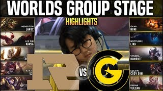 RNG vs CG Highlights Worlds 2019 Group Stage Day 1 - Royal Never Give Up vs Clutch Gaming Highlights