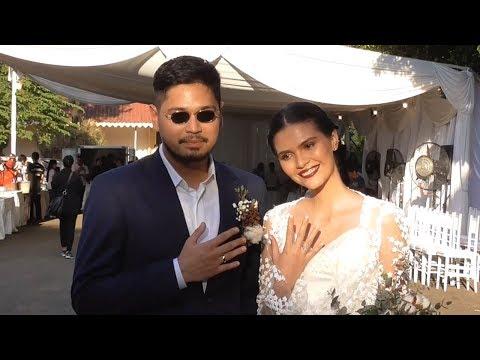 Petra Sihombing dan Firrina Sinatrya Teteskan Air Mata di Pernikahannya