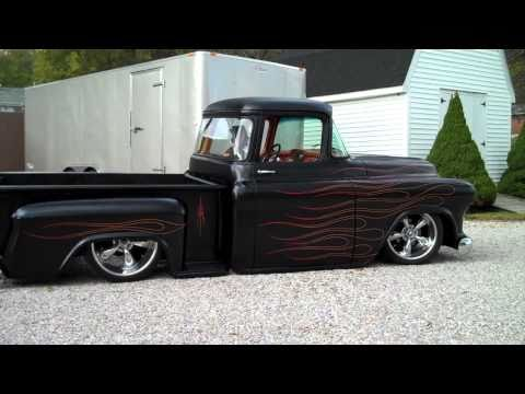 1955 Chevy Hot Rod Truck, Bagged, Air Ride Music Videos