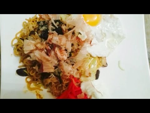 วิธีทำ สูตร ยากิโซบะ how to make yakisoba recipe