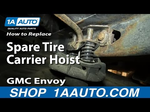 How To Replace Spare Tire Carrier Hoist 2002-09 GMC Envoy Chevy Trailblazer