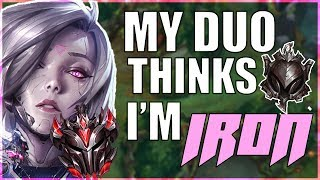 My Duo THINKS I'm Iron LITTLE DID HE KNOW | League of Undercover #13