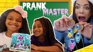 Prank Master takes our New Hatchimals Mermals? - New Toy Master