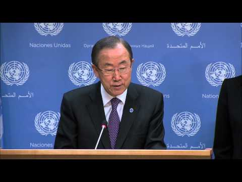 Secretary-General Ban Ki-moon on the appointment of Special Coordinator of the OPCW-UN Joint Mission