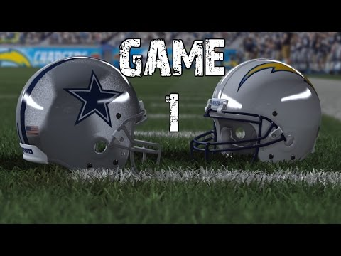 Madden NFL 2015: Game 1 - Dallas Cowboys vs San Diego Chargers (Xbox One)