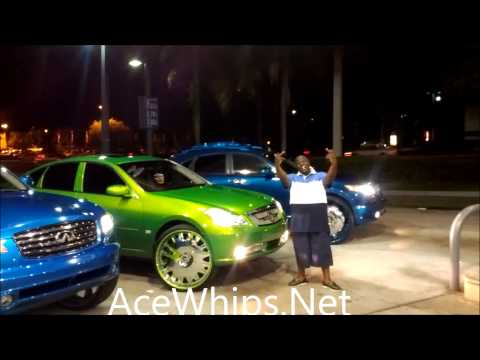 AceWhips.NET- Lauderdale INFINITI Game- WET Candy Teal N Blue FX N Slime Green M on Forgiatos