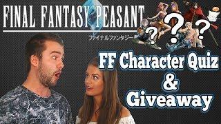 LETS QUIZ TASH! Final Fantasy Peasant Wall Update & Prize Giveaway