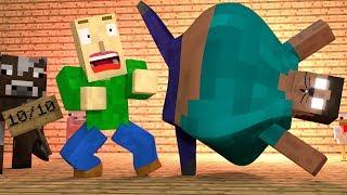 BALDI'S BASICS VS Herobrine - Funny Minecraft Animations by MrFudgeMonkeyz