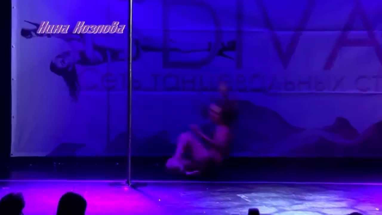 """Отчетный концерт Pole Dance в клубе """"Олимпия"""" 07.06.2015 года. Педагог Нина Козлова"""