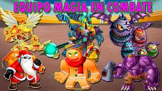 Monster Legends - Equipo Magia [Panda Claus,Goldfield,Worker Hulk,Cupido,Clutch y Son Cookie]