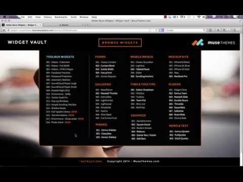 MuseThemes.com – Mega Menu Widget (FREE) | Adobe Muse Tutorial