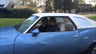 Kids surprise mom and dad with their 1st car, restored 1973 Pontiac Lemans