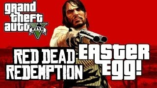 Grand Theft Auto 5 | Red Dead Redemption Easter Egg! (GTA V)