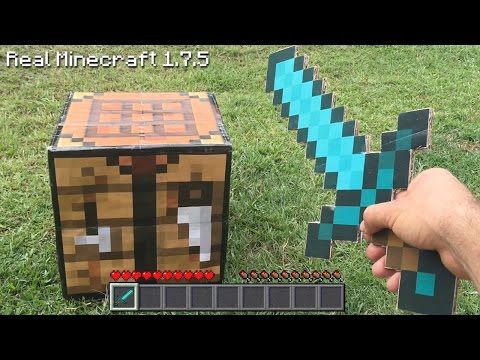 Real Life Minecraft - HOW TO MAKE A DIAMOND SWORD