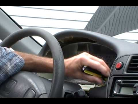 Removing a Honda Civic instrument cluster