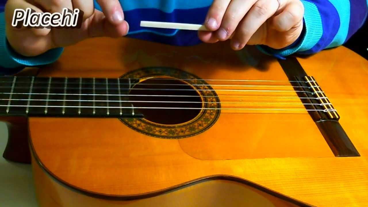 Bajando el hueso del puente guitarra espa ola youtube for Guitarras la clasica