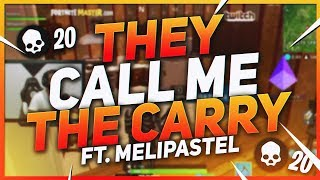 TSM Hamlinz - THEY CALL ME THE CARRY! Duos Ft. Melipastel (Fortnite BR Full Game)