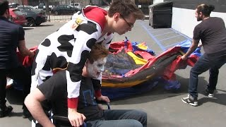 BOUNCE CASTLE INVASION + RT Update • Behind the Cow Chop