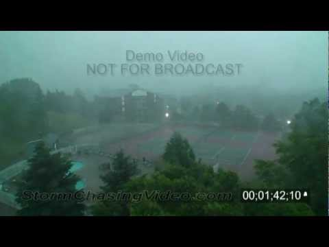 7/11/2008 Burnsville, MN Severe Storms Stock Footage