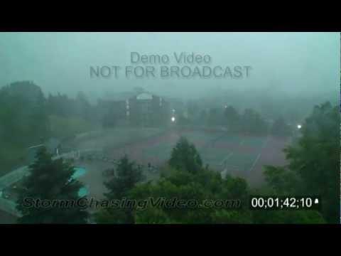 7/11/2008 Burnsville, MN Severe Storms Stock Footage