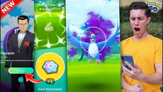 DEFEATING GIOVANNI QUEST + CATCHING A *SHADOW LEGENDARY* in Pokémon GO!
