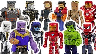 Marvel Avnegers Infinity War Minimates Hulk VS Thanos! #DuDuPopTOY